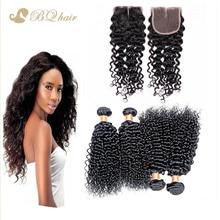 Brazilian Water Wave 4 Bundles With Lace Closure 7A Cheap Rosa Brazilian Human hair extension unprocessed virgin hair weave