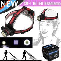 1 x XM-L T6 LED COB Akumulator 18650 Reflektorów Head Light Latarka Latarka Na Zewnątrz Światło Rowerów Akcesoria Hurtowe Grudnia 4