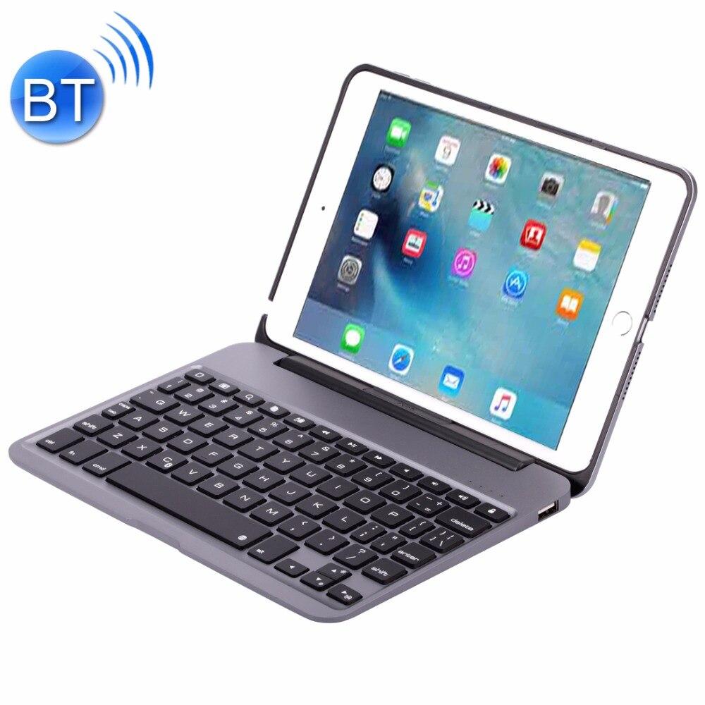 F04 for iPad mini 4 Portable Foldable Aluminium Alloy Wireless Bluetooth Backlight Keyboard
