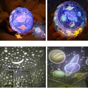Image 3 - LED Night Light เด็กโคมไฟแบตเตอรี่ขับเคลื่อน Starry Sky Magic Star Moon Planet โปรเจคเตอร์โคมไฟ Cosmos Universe โคมไฟข้างเตียง