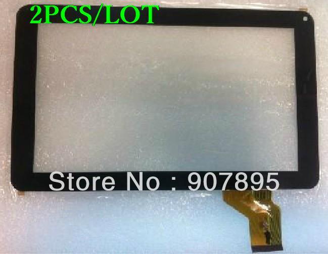 2 pces DH-0901A1-Fpc02-02 tela sensível ao toque capacitivo painel de vidro DH-0901A1-Fpc01-01 para tablet pc notando tamanho e cor