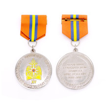 gold silver medals custom 3D military with ribbons cheap made  medal color