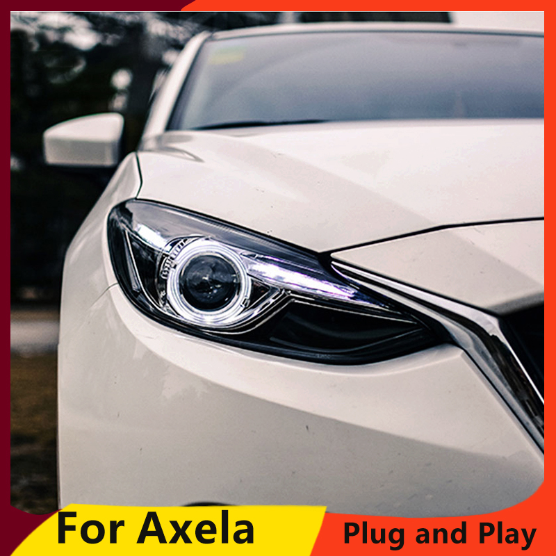 KOWELL Car Styling for Mazda 3 Headlights 2015 New Mazda3 Axela LED Headlight Original DRL Bi