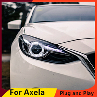 KOWELL Car Styling for Mazda 3 Headlights 2015 New Mazda3 Axela LED Headlight Original DRL Bi Xenon Lens High Low Beam Parking