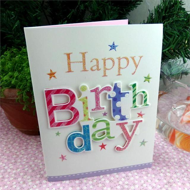 Korea Selling Greeting Cards Musical Birthday Three Dimensional Pattern
