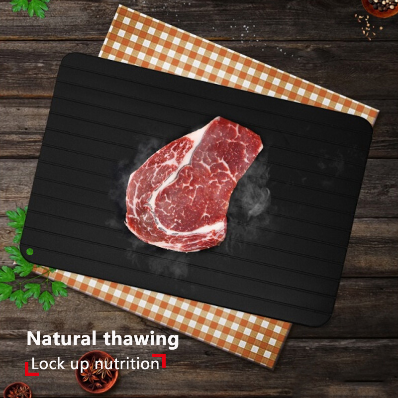 Defrost Tray Frozen Meat Food Defrosting Rapid Aluminium Thaw Board Fast Thawing
