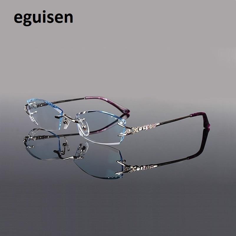 Здесь продается  53-18-138 Spectacle assembling Finished pure titanium gradient color MR-8 lenses women female rimless myopia eyeglasses lentes   Одежда и аксессуары