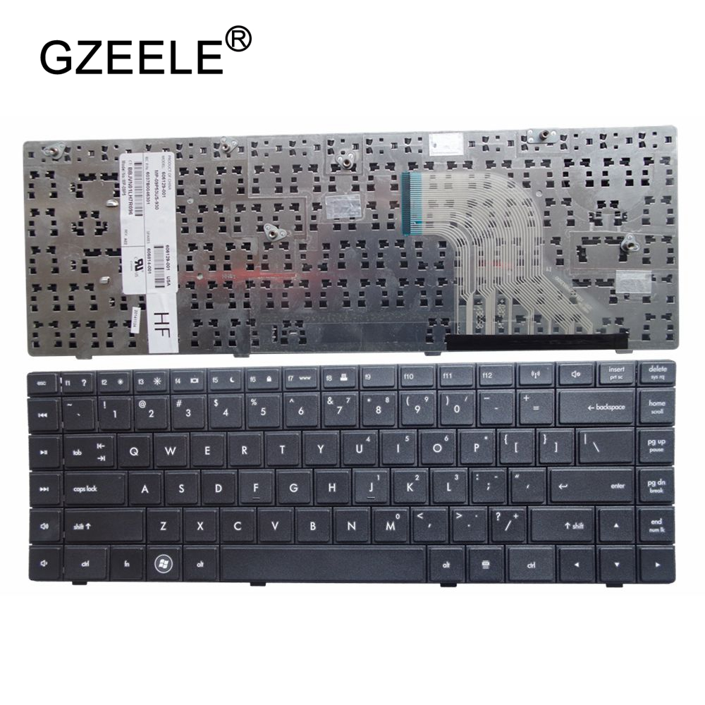 GZEELE Keyboard For HP COMPAQ KEYBOARD 605814-DW1 606129-DW1 606129-B31 15.6'' Laptop