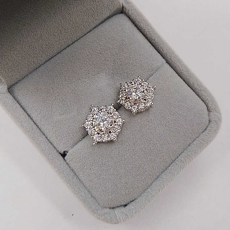 authentic earrings female temperament micro-inlaid zircon earrings hypoallergenic fashion super flash earrings