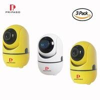 3 упак. 720 P Беспроводной IP Камера панорамирования/наклона/Zoome Ночное Видение видеонаблюдения Камера Видеоняни и радионяни 2 аудиоданных дома