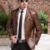 El Nuevo 2016 Otoño Chaquetas de Cuero de Los Hombres de Mediana Edad Ocio de Los Hombres Trajes de alta Calidad de LA PU Abrigo de Piel Masculina Yardas Grandes Ovejas cuero
