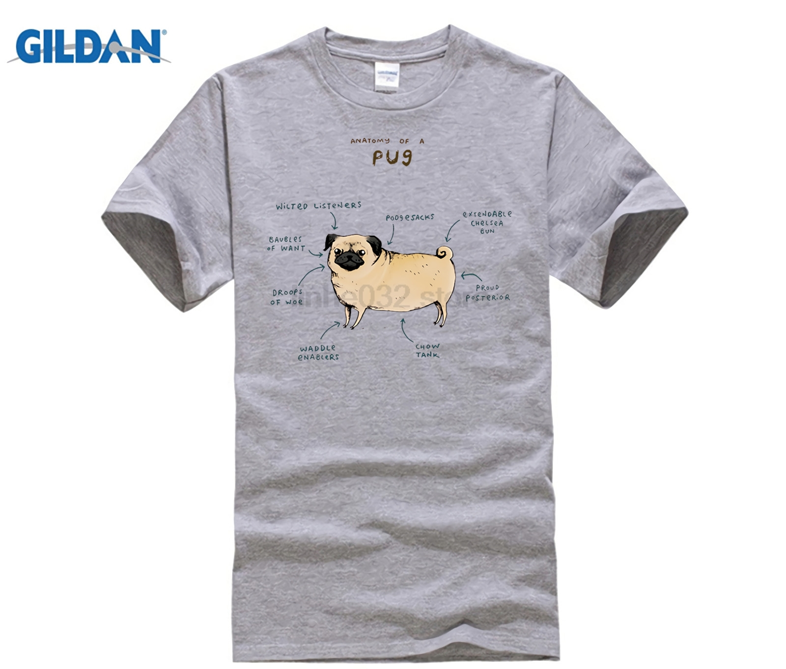 a8f5fa5a9 GILDAN Anatomy of Animals T Shirt Pug Dog Chicken Cow Fox Goat Rabbit Maine  Coon Hedgehog Axolot Elephant Anatomy T-Shirt