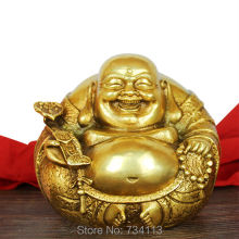 Maitreya Open light copper Ruyi Maitreya Buddha Statue figurine Home Furnishing Feng Shui ornaments gift Good luck Decoration
