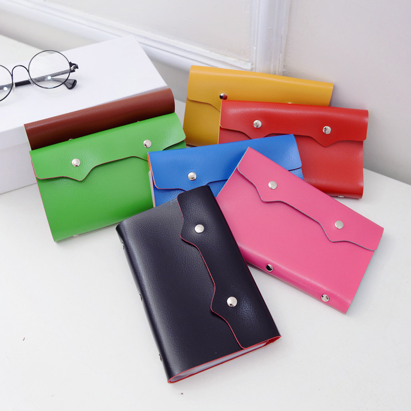 96 Bits Slots Women Mens Business Cards Holders popular PU leather large capacity Credit card hand bags Travel coin card holder