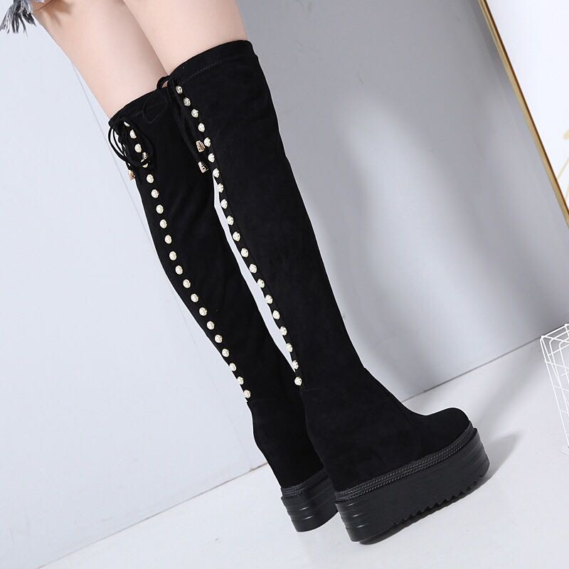 Increase within Women s boots 2018 new ultra high 13 cm thick bottom Over the knee