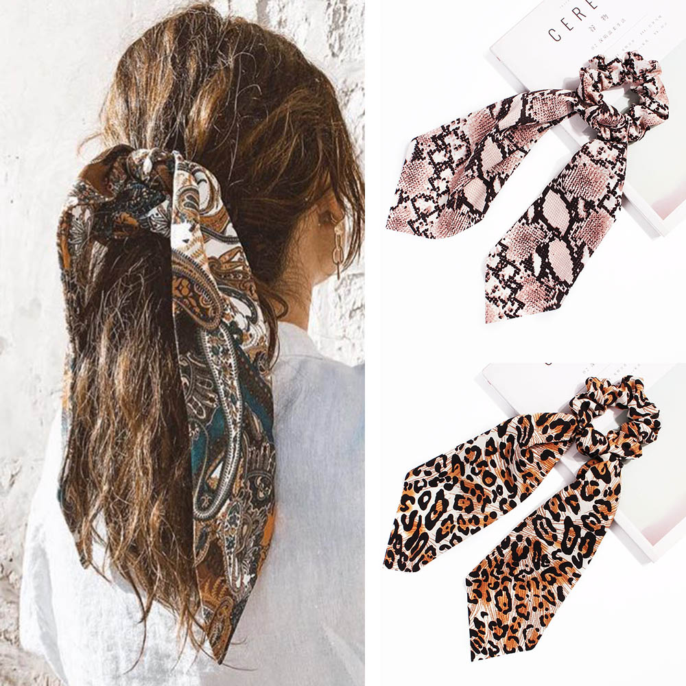 2019 New Women Hair Bow Streamers Scrunchie Girls Ribbon Tassels Hair Rope Rubber Bands Horsetail Tie Headwear Hair Accessories