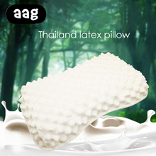 AAG Solid Natural latex pillow Thailand Import Sleeping Bedding Cervical Massage Pillow Health Care Neck Protect Memory Pillow giantex 60x40cm natural latex pillow sleeping bedding cervical massage pillow health neck bonded head care memory pillow u1177