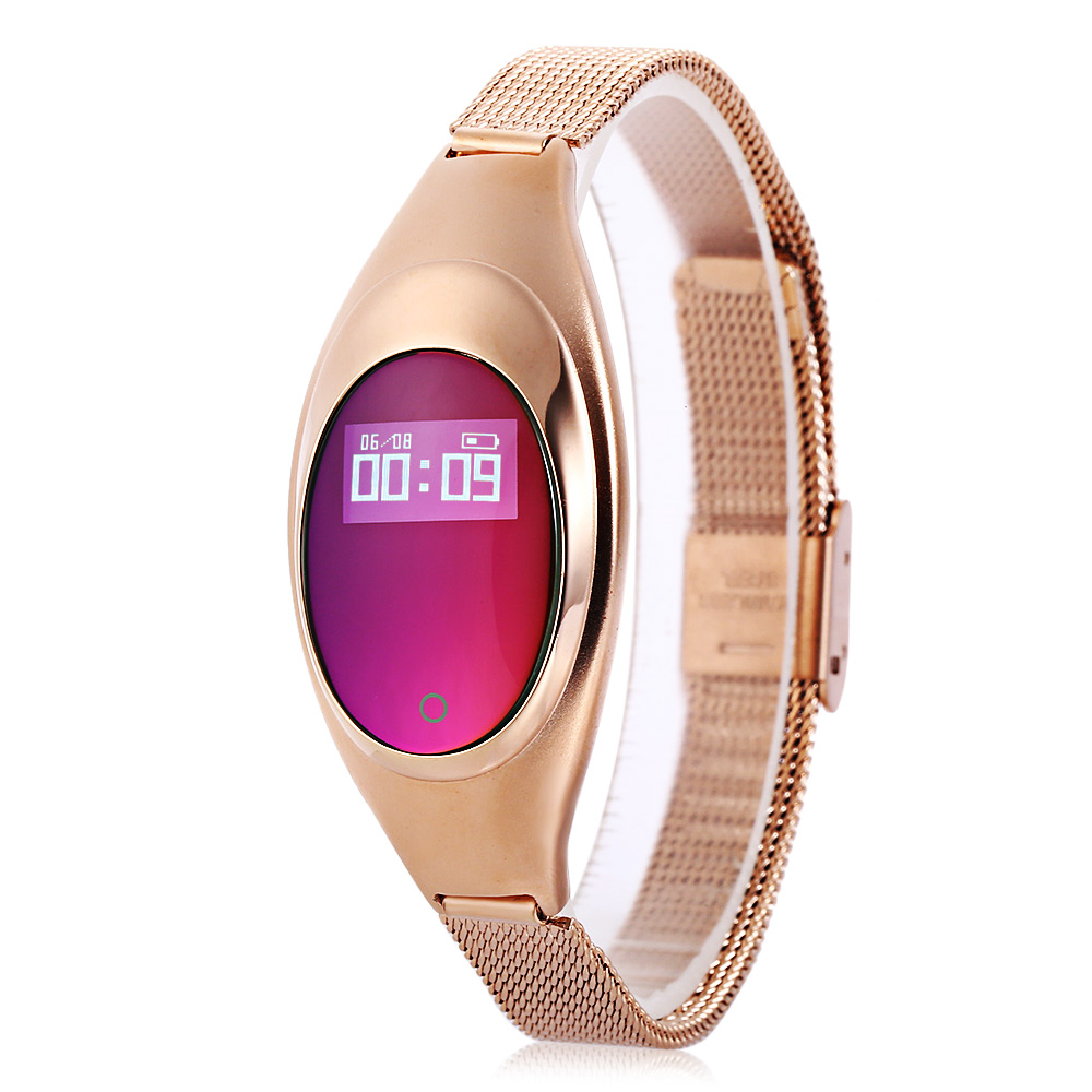 Fashion Z18 Heart Rate Blood Pressure Oxygen Monitor Smart Bracelet Call Reminder Smart Watch For Women Wristwartch Smartwatch