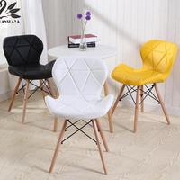 Butterfly Chair Leg Backrest Radar Creative Designer Computer Modern Dining Chairs Stoel Wood Furniture Restaurant