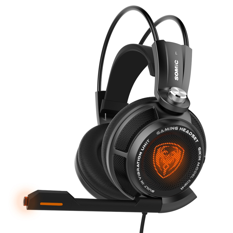 F18573/74 Somic G941 Deep Bass USB Game Headset 7.1 Surround Sound Professional Gaming Headphone Vibration Function for PC Gamer