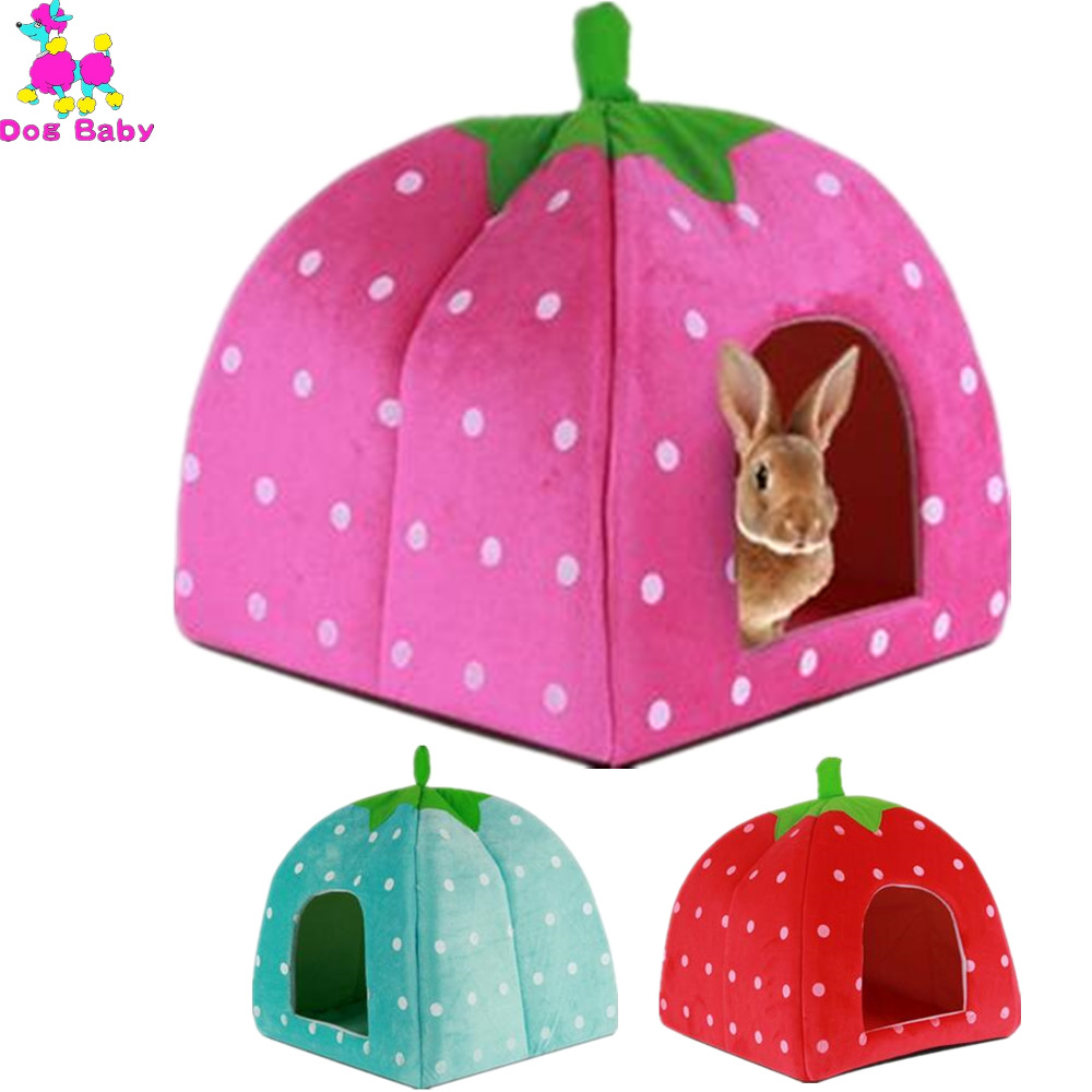 online get cheap pink dog kennel aliexpresscom  alibaba group - warm dog bed soft plush sponge strawberry pet house green red pink colorsize s m l all