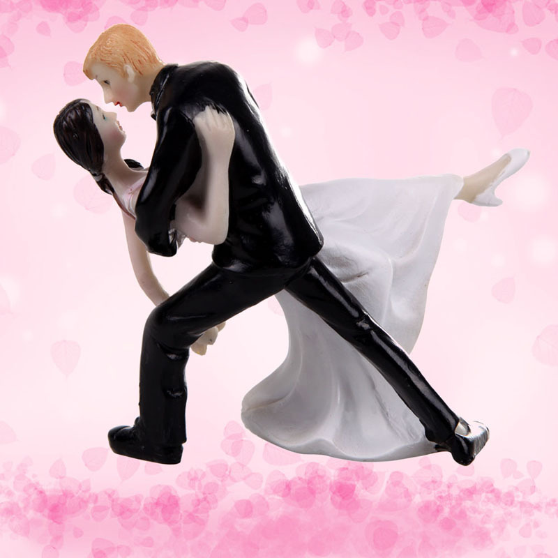 dancing couple wedding cake topper 2017 new groom resin 13328
