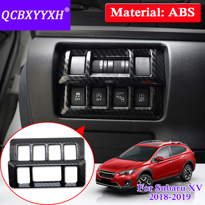 QCBXYYXH Internal Decorations Stickers ABS Car Styling Headlight Switch Button Sequins For Subaru XV Impreza 2018 Internal Cover