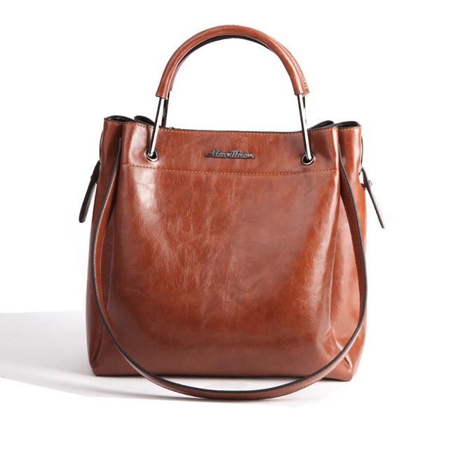 Designers Brand crossbody Shoulder Bags 2017 Women oil wax PU Leather Tote Handbags Soft Purse bag Vintage Ladies messenger bags