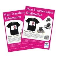 A4 rozmiar Koszulka transferu papier fotograficzny papier przenikania ciepła dla ciemnych lub ciemny kolor ubrania