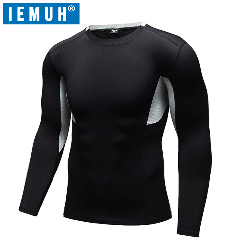 IEMUH Brand Men Running T-Shirt For Training Tracksuit Spring Men Tight Mens Gym Sports Short Sleeve T Shirt Gym Running Clothes