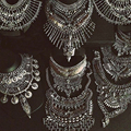 Dvacaman Fashion Jewelry Women Collier Big Vintage Maxi Chunky Necklaces & pendants Maxi Boho Statement Collar Necklace 9820