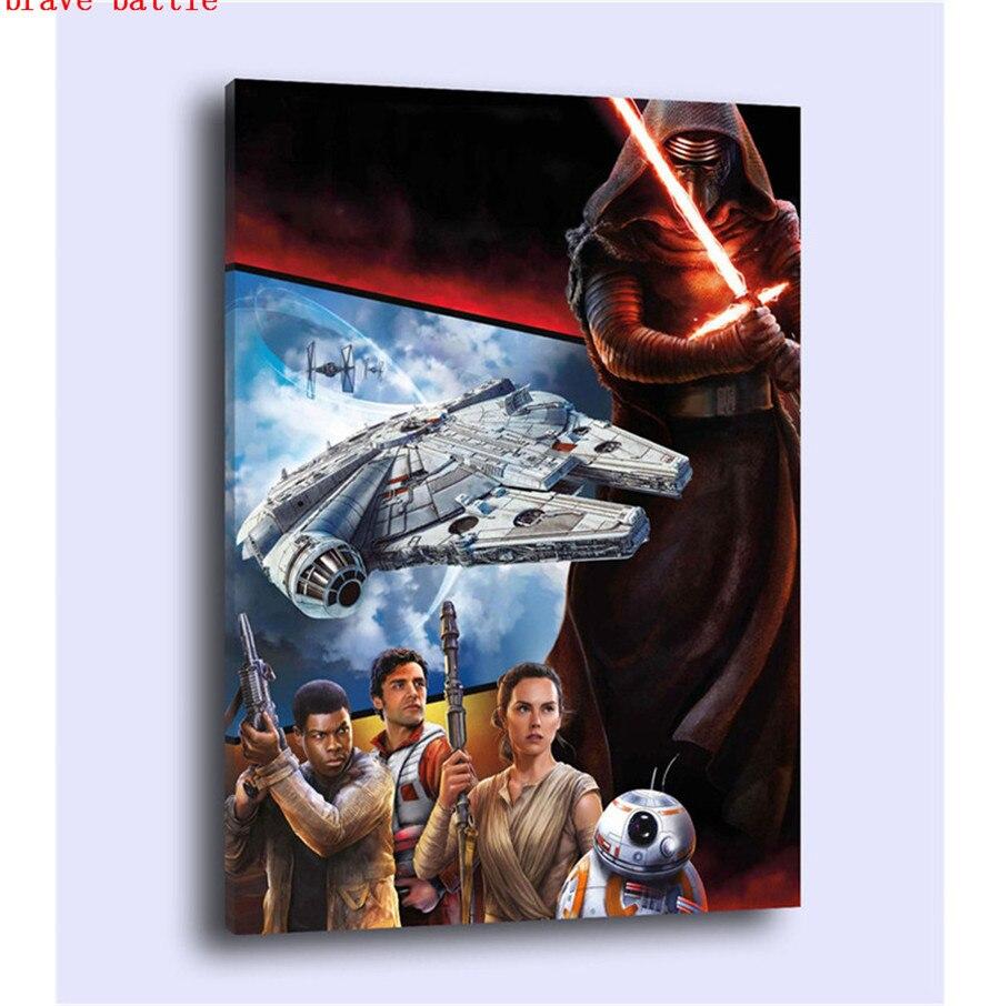 100% Kwaliteit Hd Gedrukt Foto Schilderen Muur Kunst Frame 1 Stuk/pics Star Wars Wekt Moderne Canvas Woonkamer Home Decor Poster