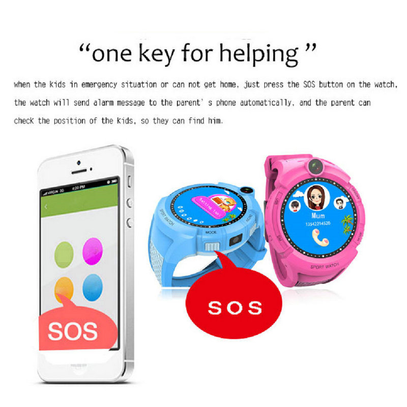Image 2 - Q360 Kids Smart Watch Camera GPS WiFi Location Smartwatch Children SOS Anti Lost Monitor Tracker Baby Wristband Watch Kids Gifts-in Smart Watches from Consumer Electronics