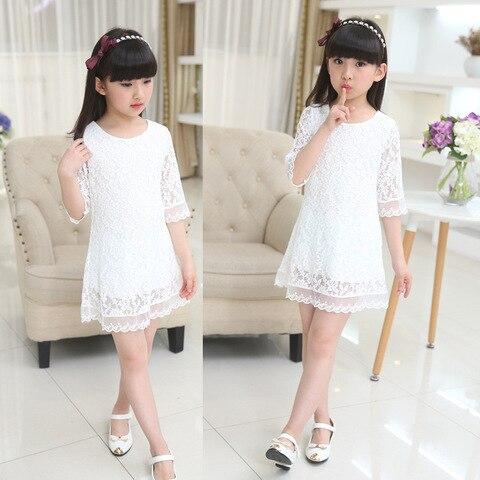 vestido de algodao criancas vestido moda arco babados
