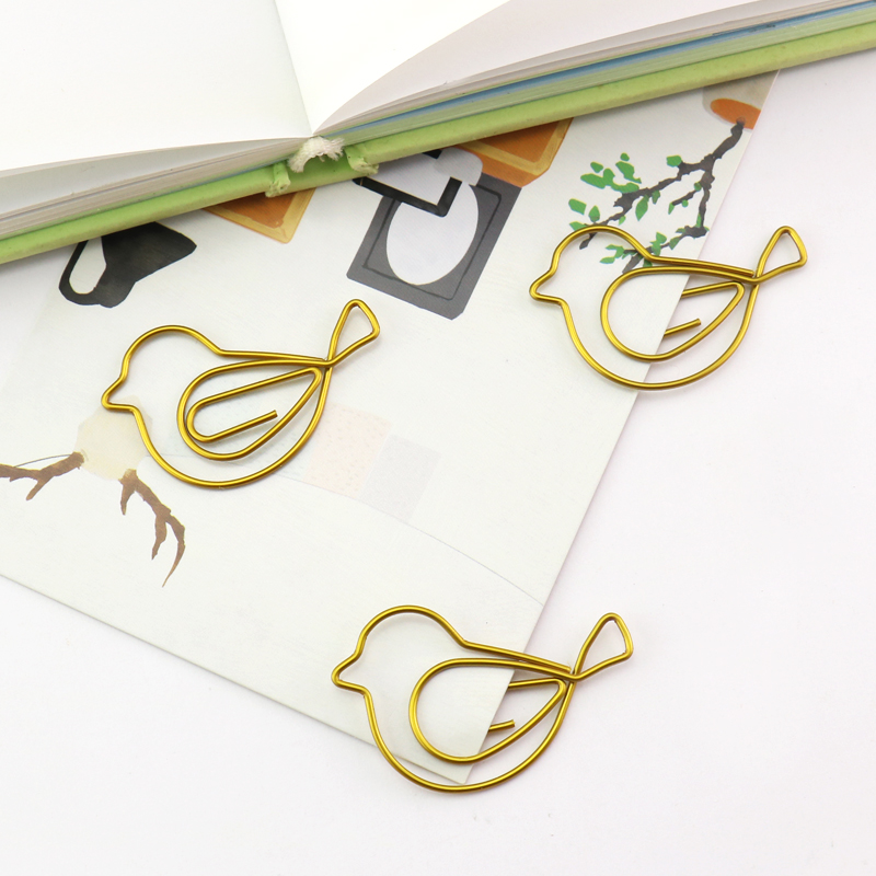 15pcs/set Metal Paper Clips Cartoon Bookmark Memo Clip For Book Stationery School Office Supplies High Quality Stationery