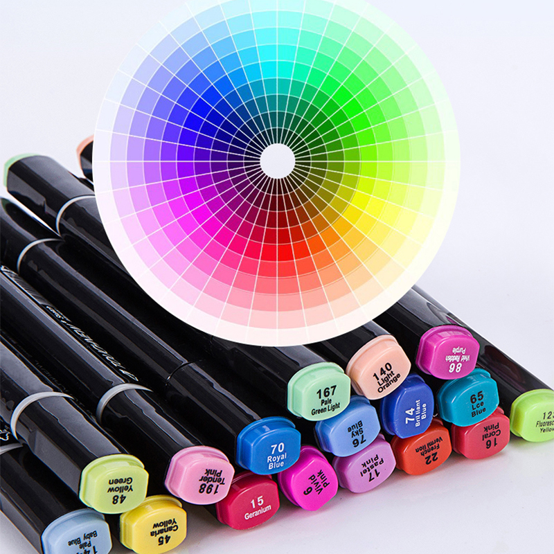 Image 2 - TOUCHNEW 30/40/60/80 Colors Art Markers Alcohol Based Markers Drawing Pen Set Manga Dual Headed  Art Sketch Marker Design PensArt Markers   -