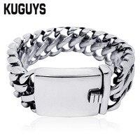 120g Heavy Top Quality 316l Stainless Steel Men Bracelets Rock Punk Biker Jewelry Titanium Bracelet Man