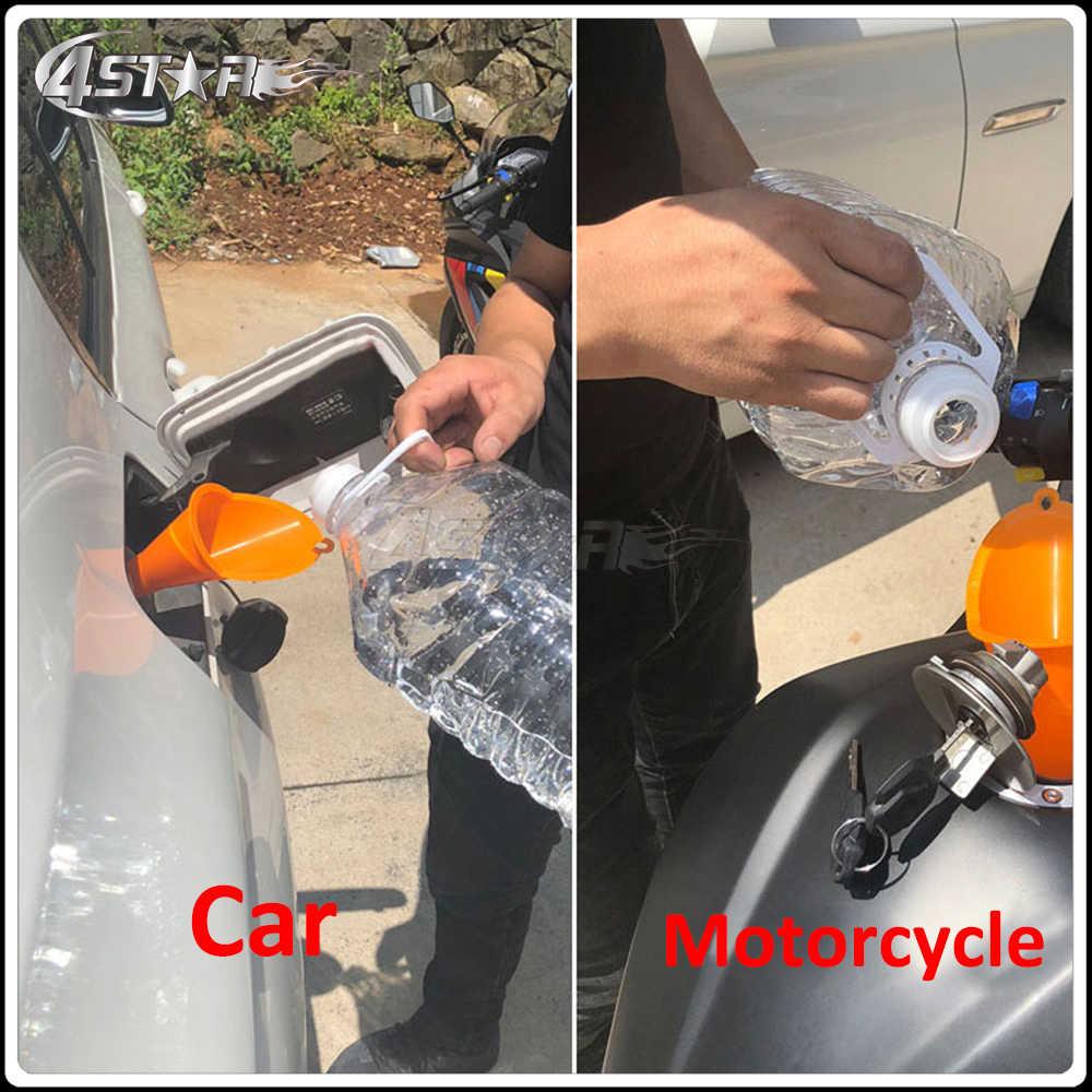 Motosiklet Araba Yakıt Ikmali Çok Fonksiyonlu Uzun Benzinli Motor Yağı Dizel Katkı tarlamakinesi Huni KTM EXC Motosiklet