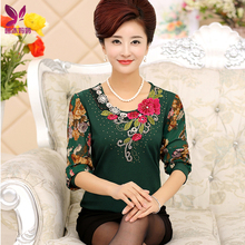 YOUYEDIAN Plus Size 5XL Womens Tops and Blouses 2018 Elegant Palid Long Sleeve