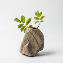 New decorative flower vase creative stone ceramic vases bonsai landscape artificial articles hydroponic