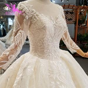 Image 4 - AIJINGYU แม่เจ้าสาว Weddimg ชุด Drees อิตาลีสีขาว Lace Plus ขนาดแขนยาว Imperial ชุดแต่งงาน ชุด