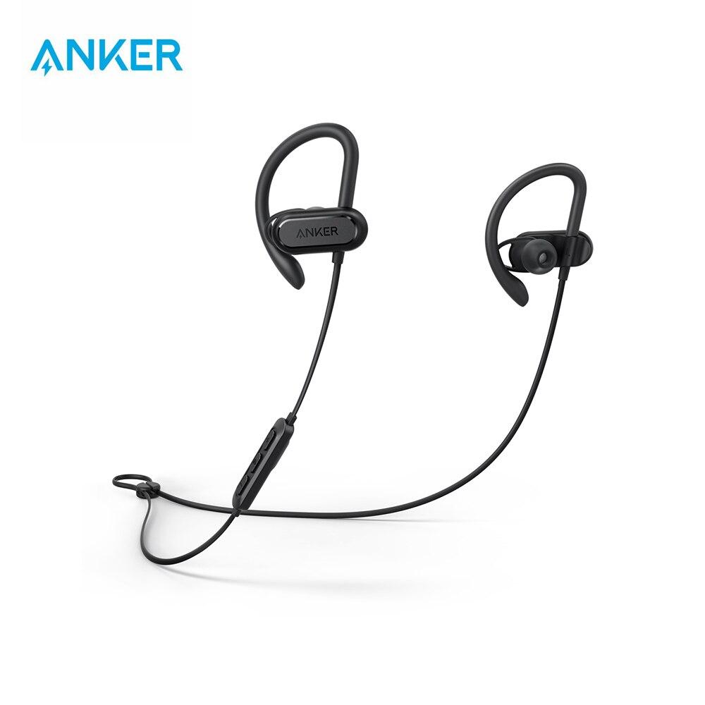 Anker Bluetooth casque Soundcore Spirit X Sports écouteurs avec sans fil Bluetooth 5.0 IPX7 SweatGuard Tech 12-h batterie Mic