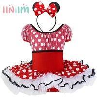 Iiniim Trajes de Halloween para o bebê menina tutu vestido + Cocar Bonito Rato da menina Prom Animal Cosplay Vestuário roupa de crianças menina