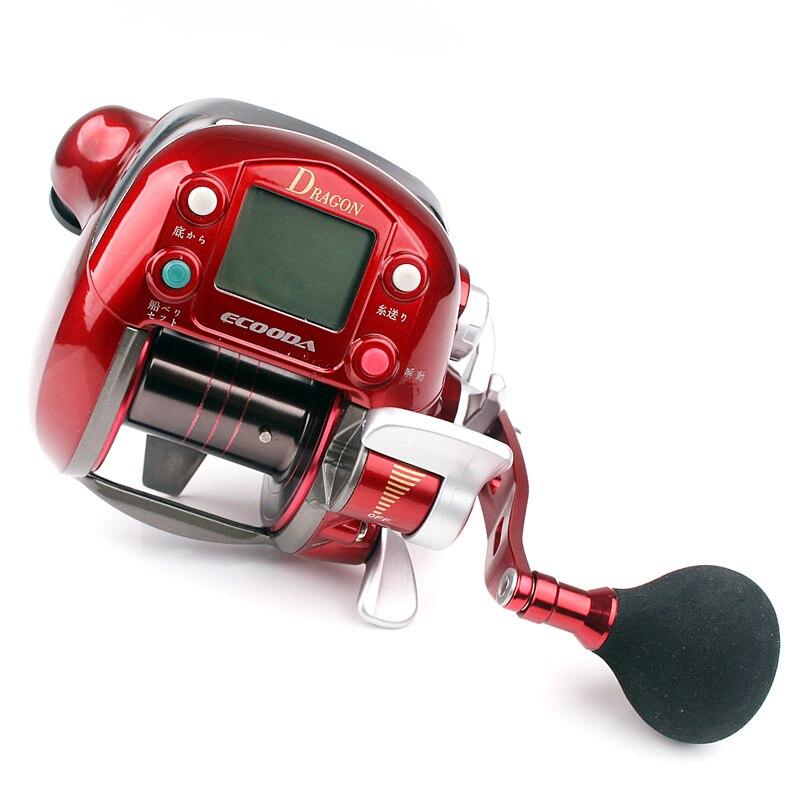 Bobine électrique ECOODA DRAGON 7000LB matériel de pêche à la traîne Ratio de vitesse 2.8: 1 bobine de pêche électrique de haute qualité
