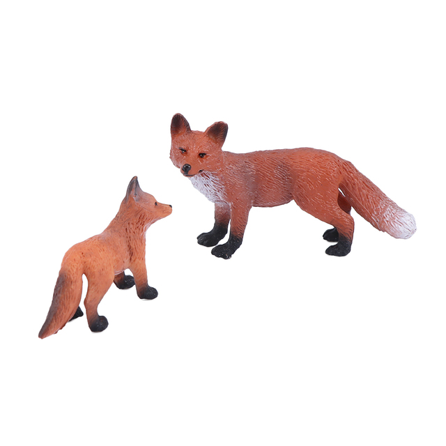 Mini Simulation Red Fox Models Home Garden Statues Ornaments Figurine Decoration For Forest Style Home Decor Accessories 3