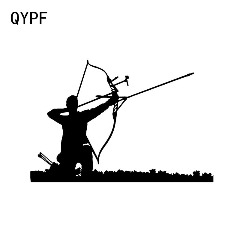 QYPF 15.5*10.4CM Fashion Cross Bow Hunting Arrow Sport Decor Car Sticker Vinyl Extreme Movement C16-1747