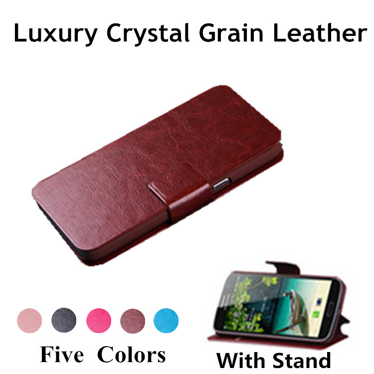 Luxury Fashion Retro Royal PU Leather Cover For Lenovo A6010 A <font><b>6010</b></font> Flip Phone Protect Case With Stand Free Shipping image