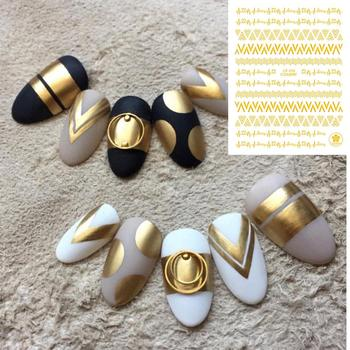 цена на CB series CB-36 wave line Black White Gold Silver letters 3d nail art stickers decal template diy nail tool decorations