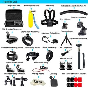 Image 5 - 50 in 1 Gopro Accessories Chest Ram Mount Kit For Gopro Hero 8 7 Black 5 xiaomi yi 4K Go Pro sony x3000 Action Camera Accessorie