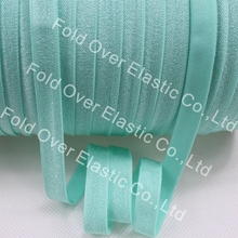 "3/8"" Solid No Fold Elastic 150 Yards of 3/8 inch FOE Elastic For DIY Headband Hair Accessories 314 Aqua Free Shipping Hot Sale"